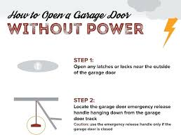 how to open a garage door manually open electric garage door manually from outside how do
