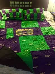 quilt made out of crown royal bags | Here are all the Crown ... & Crown Royal Quilt. I used Crown Royal bags to make this quilt and pillow  cases Adamdwight.com