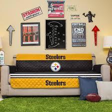 Steelers Bedroom Nfl Steelers Sofa Cover Pegasus Home Fashions Nflsteelers 4s