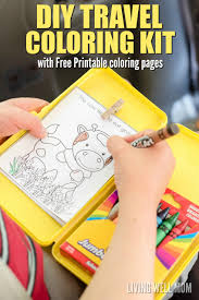 Small Picture DIY Travel Coloring Kit for Kids with Free Printable Coloring Sheets