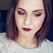 red eyes with red makeup art
