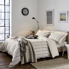 charcoal striped duvet covers