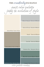 paint color schemeGuest Color Palette Jenny from Evolution of Style