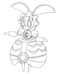 Small Picture Coloring page Pokemon Sun and Moon Magearna 7