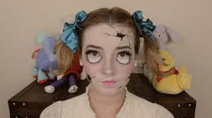 broken porcelain doll makeup