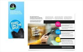 Fold Brochure Template Free Word Templates Download Leaflet