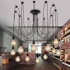 5 6 8 lights re retro chandelier loft light pendant lights wrought iron lamps ac 85v 260v pendant lights ceiling lamp traditional pendant lighting