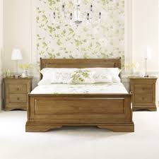 french louis solid oak 5ft king size sleigh bed