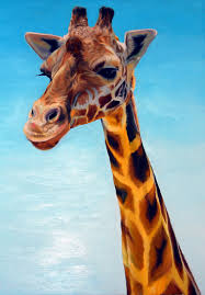 happy giraffe 40x30 oil on canvas by lee fratto original art 700 prints available