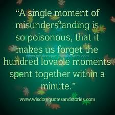 Misunderstanding Quotes Gorgeous A Moment Of Misunderstanding Wisdom Quotes Stories
