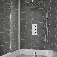 carter concealed shower valve fixed shower head handset overflow bath filler
