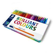 Staedtler Triplus Color Chart Staedtler Triplus Color Pens Metal Gift Tin Of 50 Brilliant Colours 1 0mm