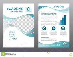 layout flyer template size a cover page wave turquoise gray tone layout flyer template size a4 cover page wave turquoise gray tone vector design