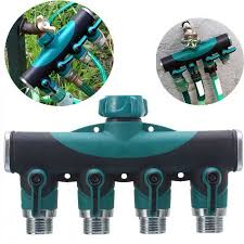 3 4 inch garden hose. 3/4 Inch Garden Hose 4-Way Splitter Water Pipe Faucet Shut-off Valve 3 4