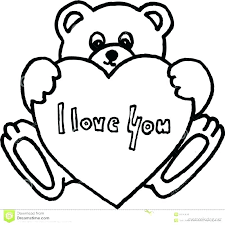 Teddy Bear With Heart Coloring Pages Comfortable Sheet Page As Well