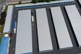 aerial view of a self storage facility in orchard at kootenai