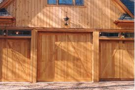 barn door garage doorsBarn Style Overhead Garage Door with False Hinges Matching