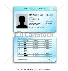 Realistic And Front Illustration Vector Template Licence International Isolated Plastic Driver License Back