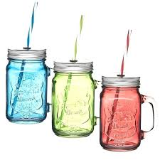 mason jars drinking kitchen craft ml glass jar with straw assorted colors in glasses without