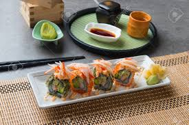 Lobster Salad Roll Sushi Stock Photo ...