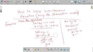 symbols mesmerizing csec maths how solve simultaneous equations elimination using matrices to in matlab with powers graphical method excel on classpad 2