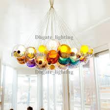 diameter 15cm color glass ball pendant lights chandelier of colorful glass spheres modern suspension lamp color
