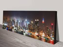 new york skyline panoramic art on new york city skyline canvas wall art with new york skyline panorama photo canvas wall art print usa