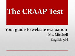 Craap Test The Craap Test Your Guide To Website Evaluation Ms Mitchell