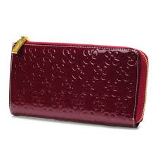 Coach Accordion Zip Large Red Wallets DVB