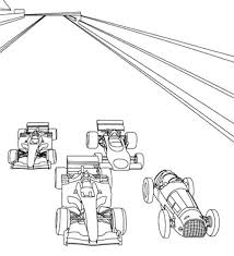Small Picture Four Car Start Track Coloring Page Race Car car coloring pages