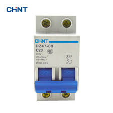 <b>Chint</b> DZ47 60 <b>2P</b> C20 Air Switch <b>Miniature</b> Circuit Breaker DZ47 <b>2P</b> ...