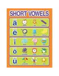 Color My World Basic Learning Short Vowels Chart