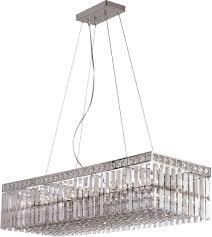 Crystal Kitchen Island Lighting Trans Globe Lighting Mdn 1053 Contemporary 35 Crowned Rectangle