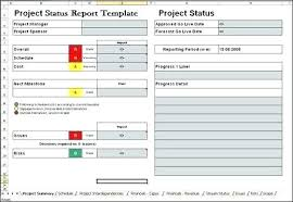 Project Status Report Template Excel Download Filetype Xls Tracking