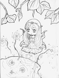 Easy Anime Girl Coloring Pages Printable Coloring Page For Kids