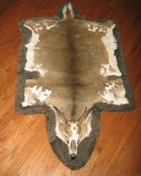 whitetail deer hide rug