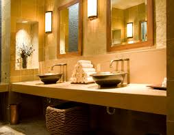 5 foot double sink vanity. round steel basins sit atop a simple ledge vanity. though it lacks drawer space, 5 foot double sink vanity