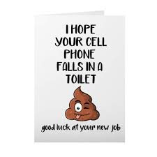 Funny farewell letter to colleagues in office. Amazon Com Funny Coworker Leaving Card 5 X 7 Blank Inside Folded Card Handmade