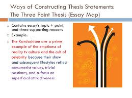 essay structure and thesis ppt  ways of constructing thesis statements the three point thesis essay map