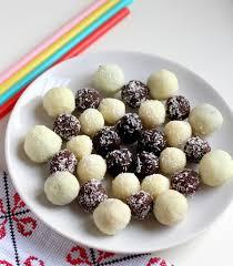 chocolate coconut laddoo recipe