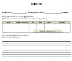 Template For Petition Free Petition Templates 8 Word Form Letter Samples Template Section