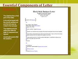 Elements Of Business Letter Custom Paper Sample 1286 Words 6 Pages