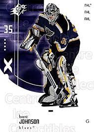Amazon.com: (CI) Brent Johnson Hockey Card 2002-03 SPx (base) 66 Brent  Johnson: Collectibles & Fine Art