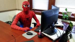 stunning design spiderman at desk foap com spider man web developer development pun