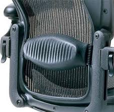 adjustable lumbar support office chair. Amazon.com: Herman Miller Aeron Chair Highly Adjustable With Lumbar Support Pad - Medium Size (B) Graphite Dark Frame, Classic Carbon Pellicle Mesh Office S