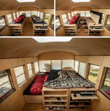 Minimalist Home In A School Bus I Love The Ideas For Tiny Living Inspiration Home Interior Remodeling Minimalist