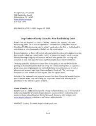 Nonprofit Writing Samples Lindsay Brzowski
