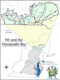 map of new york's chesapeake bay watershed  nys dept of