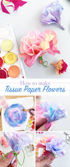 How To Make A Flower Out Of Tissue Paper Step By Step Make Easy Tissue Paper Flowers The Country Chic Cottage
