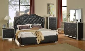 glam black silver finish bedroom set leather bedding crystal tufted intended for attractive home crystal bed set ideas